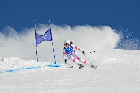 Sciatrice in azione alla Gardenissima