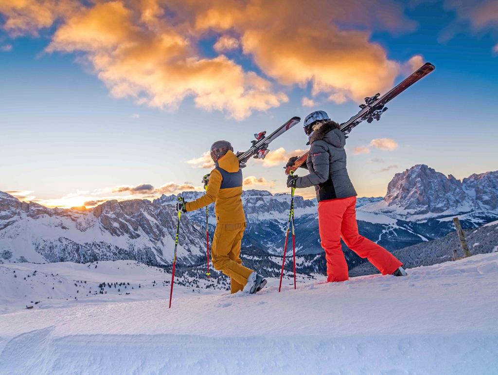 Tramonto invernale in Val Gardena