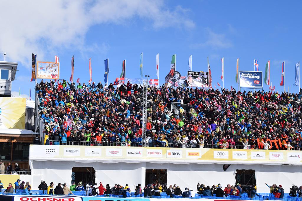 La zona di arrivo di Salastrains a Sankt Moritz 2017