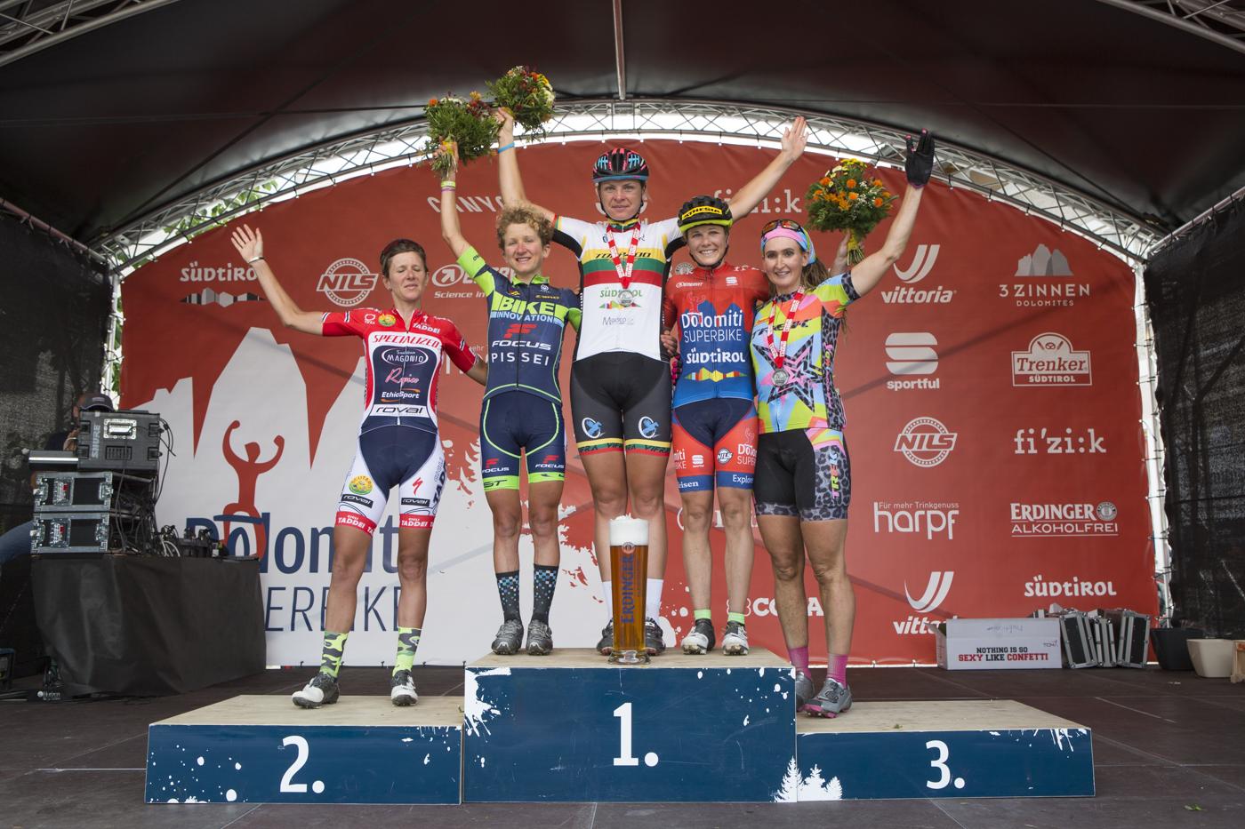 Podio femminile Südtirol Dolomiti Superbike, 113 km