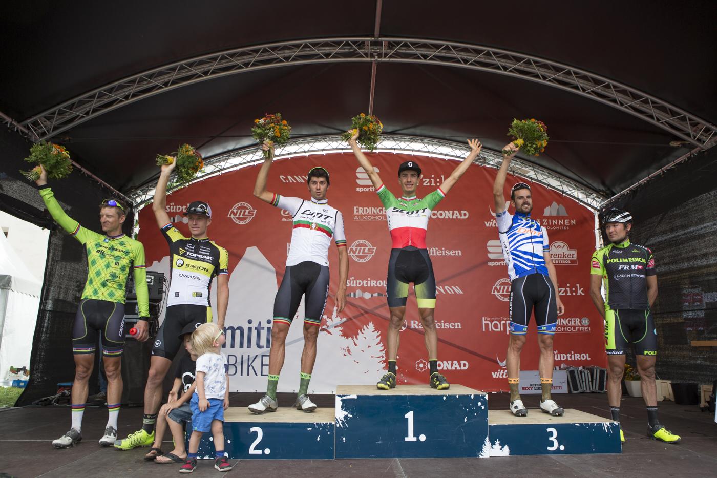 Podio maschile Südtirol Dolomiti Superbike, 113 km