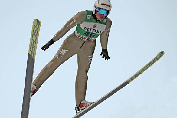 Costa in salto, sci nordico, salto dal trampolino