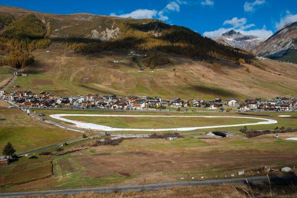 Pista sci di fondo a Livigno, ottobre 2017