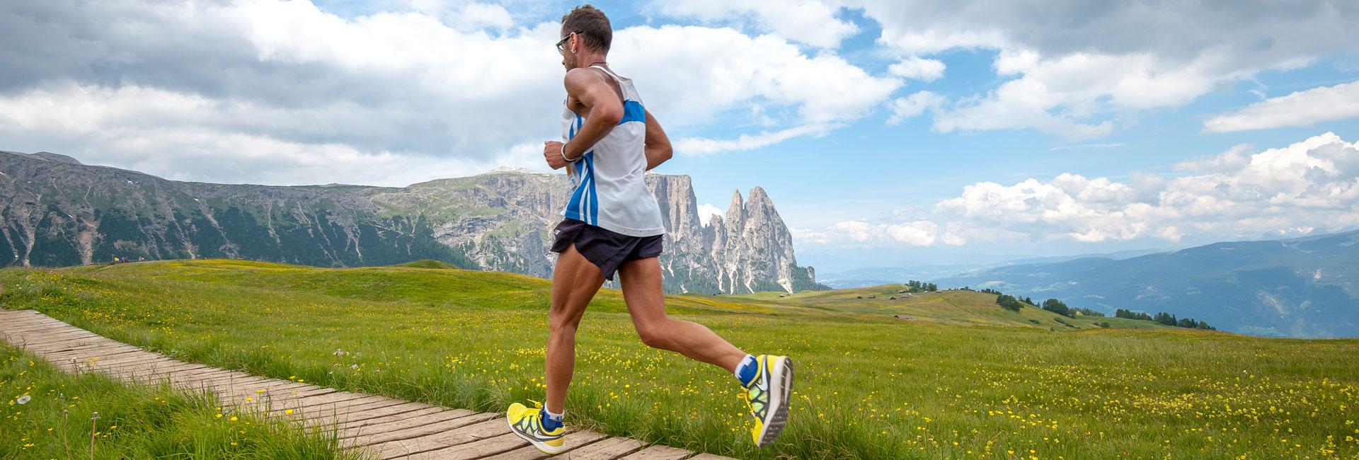 corsa tra le Dolomiti