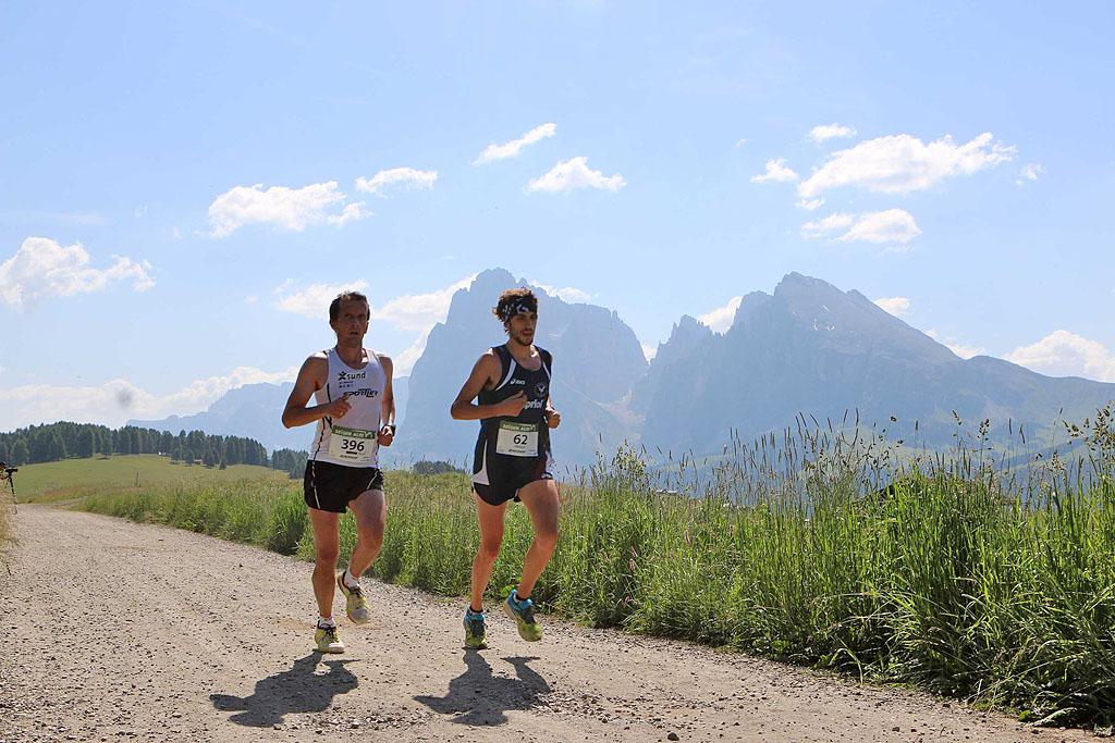 Di corsa sull'Alpe di Siusi