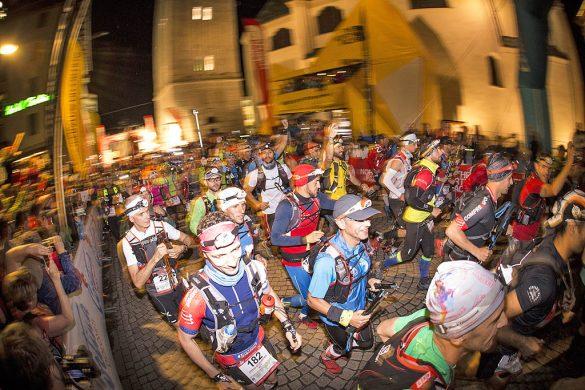 La partenza della The North Face® Lavaredo Ultra Trail 2016 da Cortina