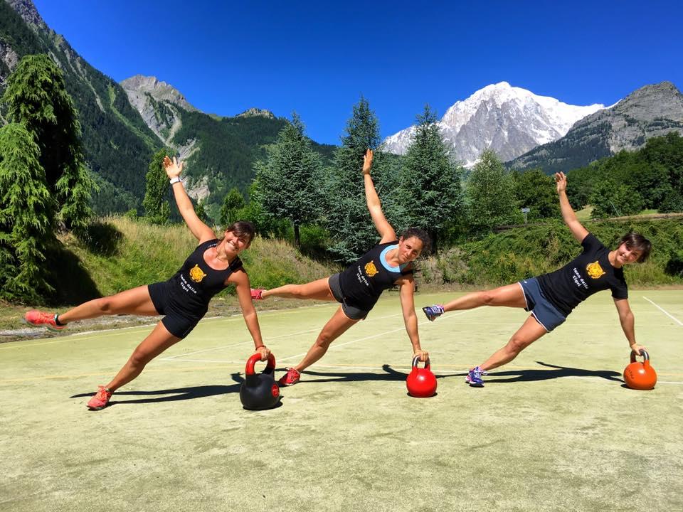 Federica Brignone e compagne in allenamento