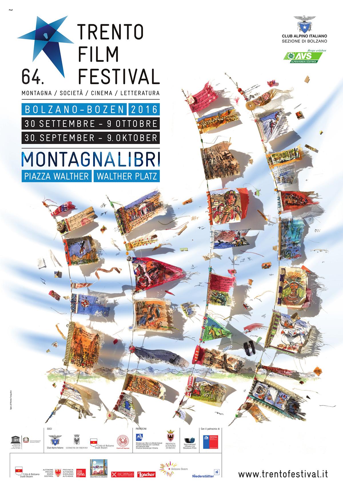 Locandina Trento Film festival a Bolzano, edizione 2016