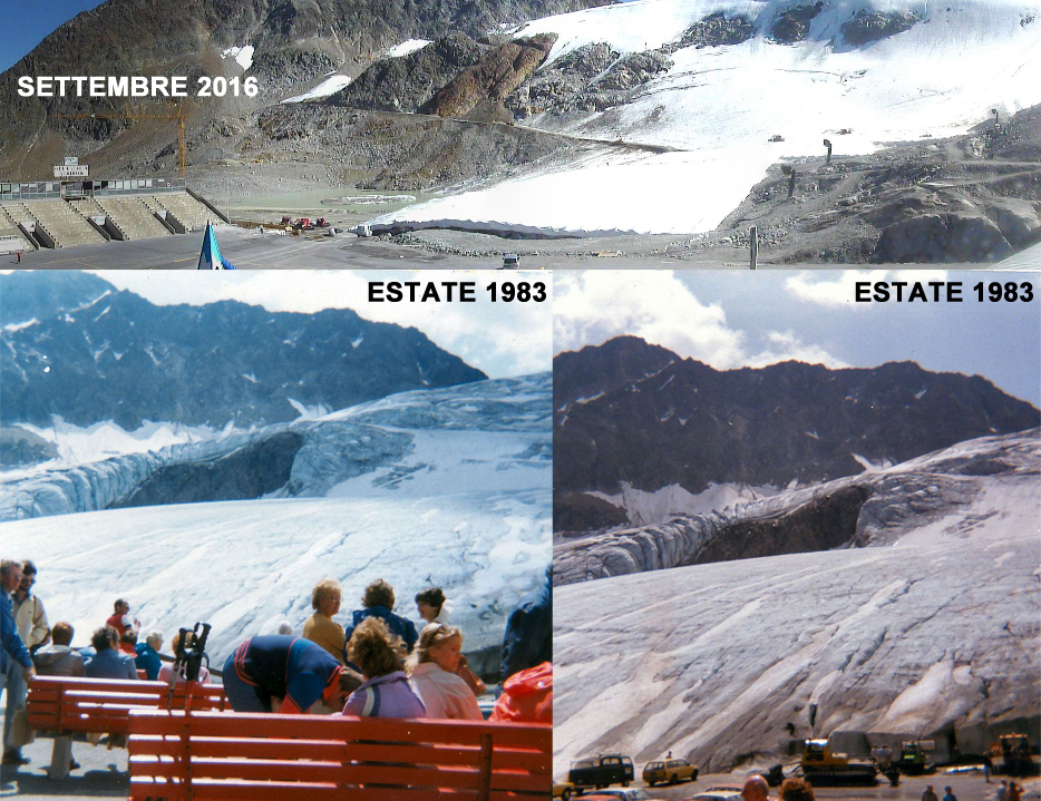 Sölden: il ritiro del Rettenbach Gletscher