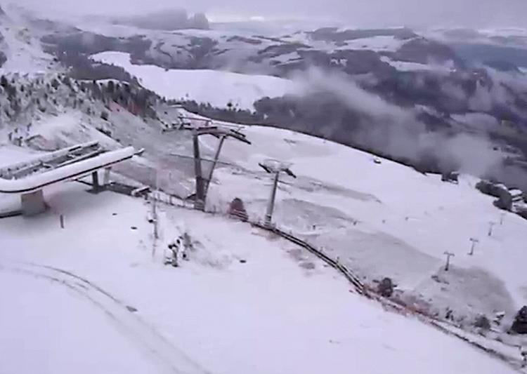 Val Gardena, Ciampinoi, partenza della Coppa del Mondo di sci, 10 ottobre 2016