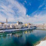 Veduta invernale di Villach