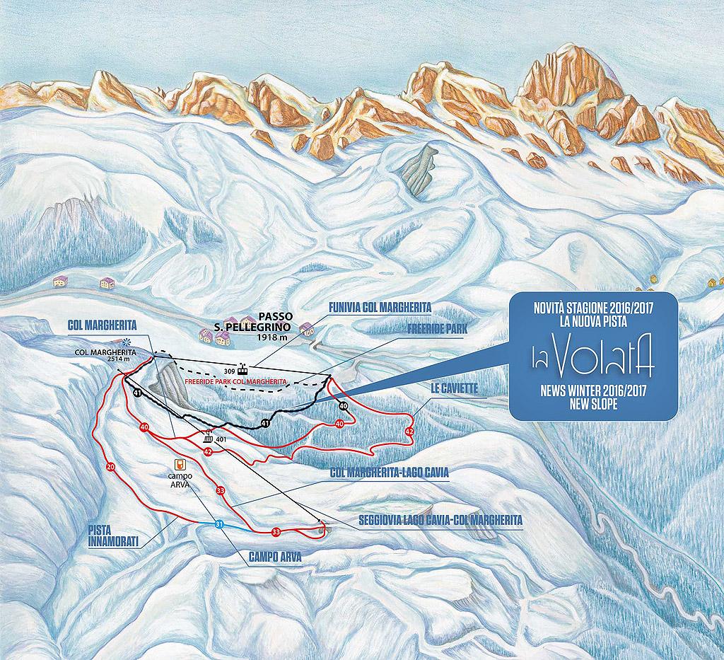 Ski Area San Pellegrino: piste aperte dal 26 novembre