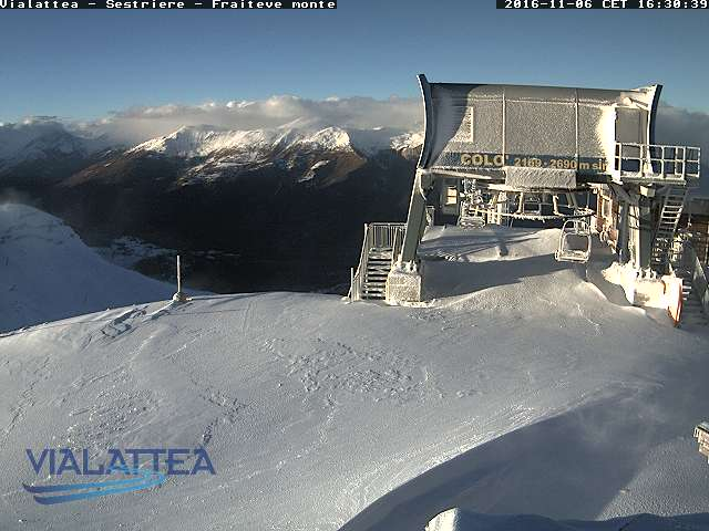 Webcam Sestriere 7 novembre 2016 - www.vialattea.it
