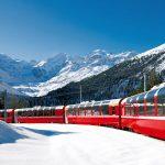 Sulle Alpi in inverno con il Bernina Express - Treno del Bernina + slitta