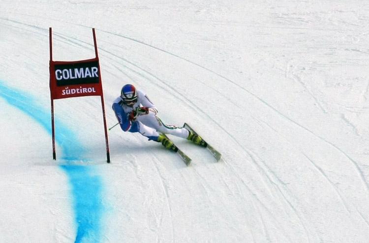 Sciatrici e sciatori azzurri in allenamento a Santa Caterina Valfurva