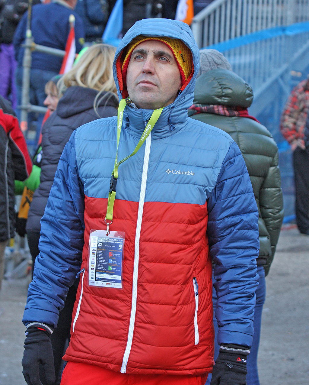 Con la giacca Columbia Powder Lite alla Coppa del mondo di sci in Val Gardena
