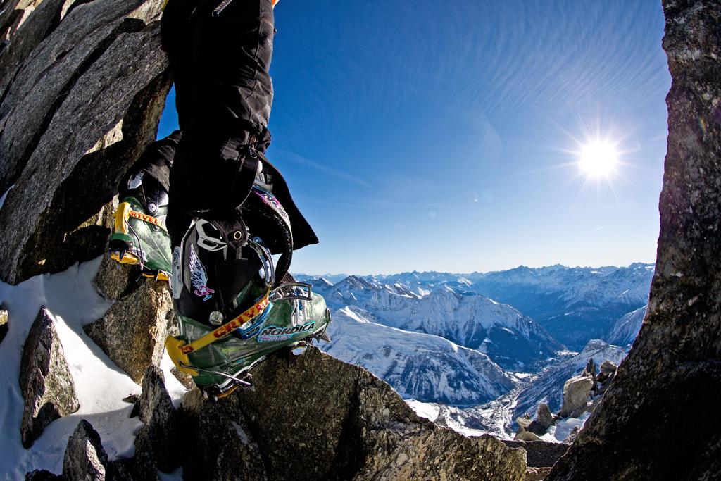 Alpinismo con i ramponi Grivel