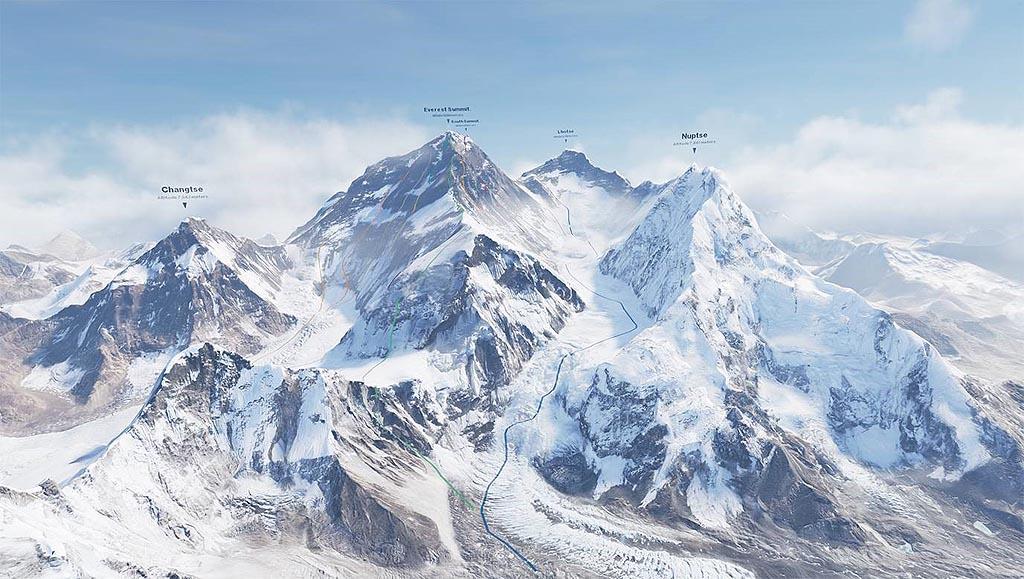 Salire sull' Everest con la realtà virtuale