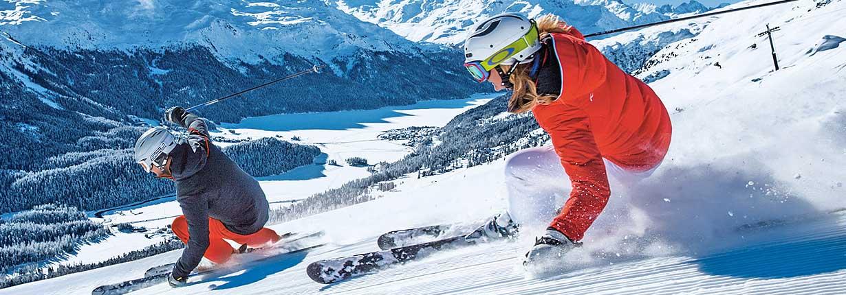 Sciare a Sankt Moritz, nel cuore dell'Engadina