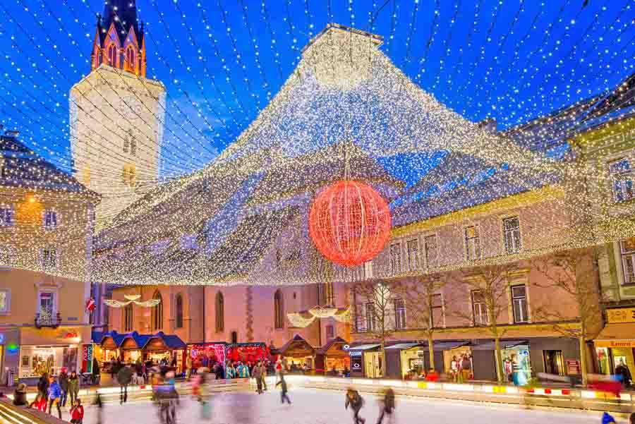 Natale a Villach: gli storici mercatini, idee regalo nel centro ATRIO, il viaggio in treno