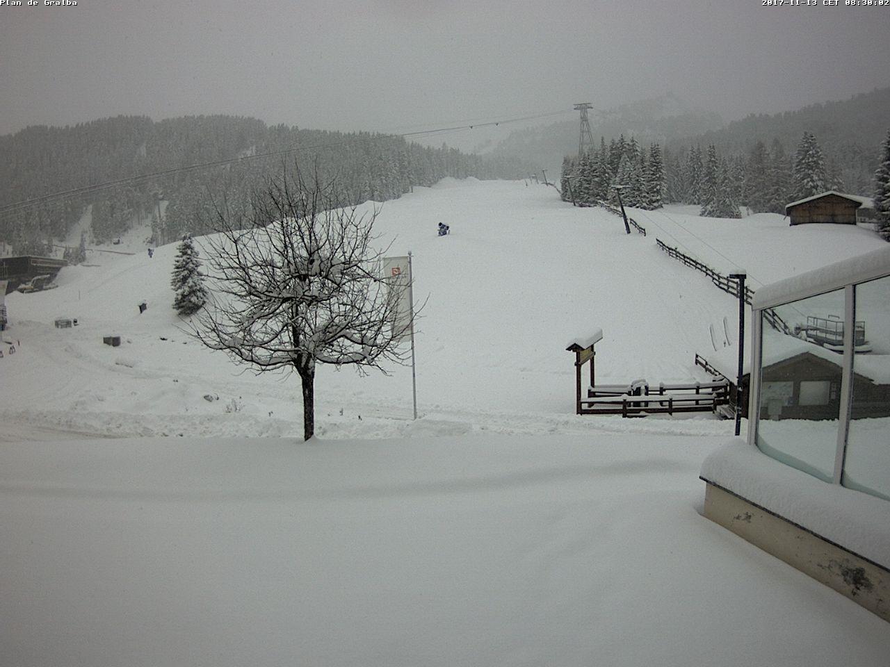 Neve in Val Gardena - Plan de Gralba, 13.11.2017