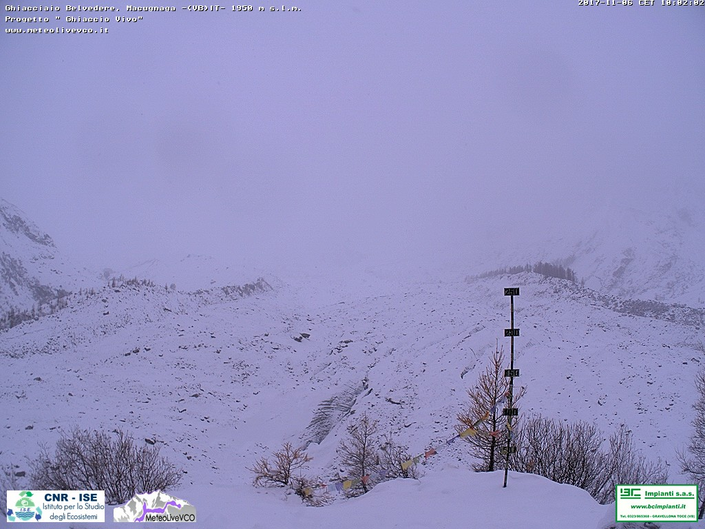 Neve in montagna - Webcam Macugnaga