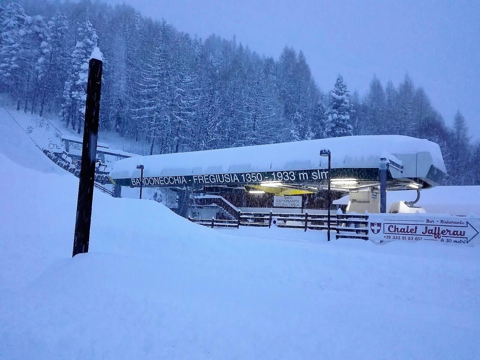 Grande nevicata a Bardonecchia - 11 dicembre 2017