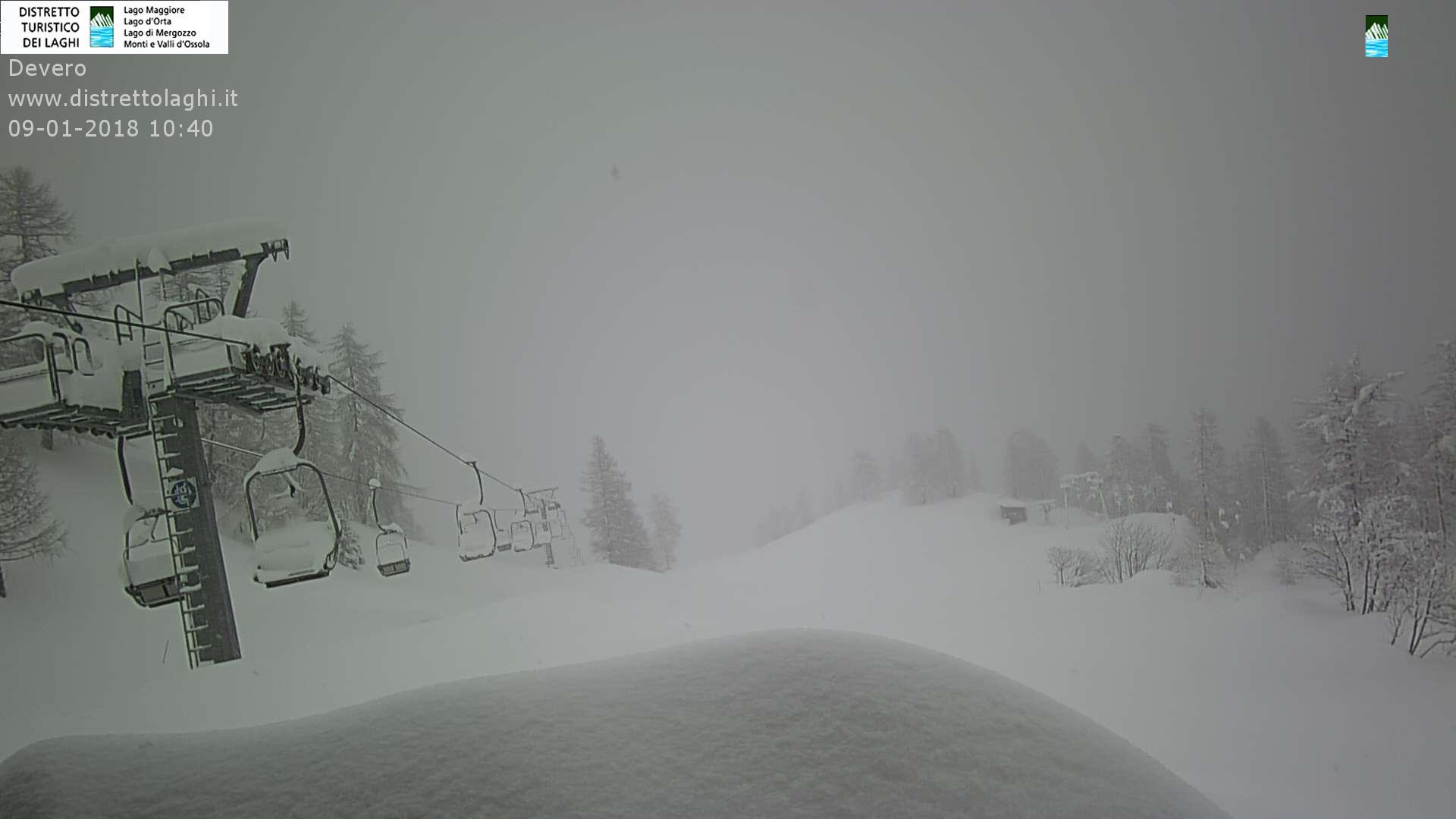 Grande nevicata sulle Alpi 9 gennaio 2018: Alpe Devero (VB)
