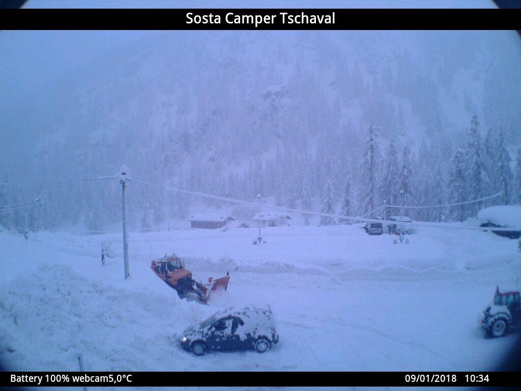 Grande nevicata sulle Alpi 9 gennaio 2018, Gressoney (AO)