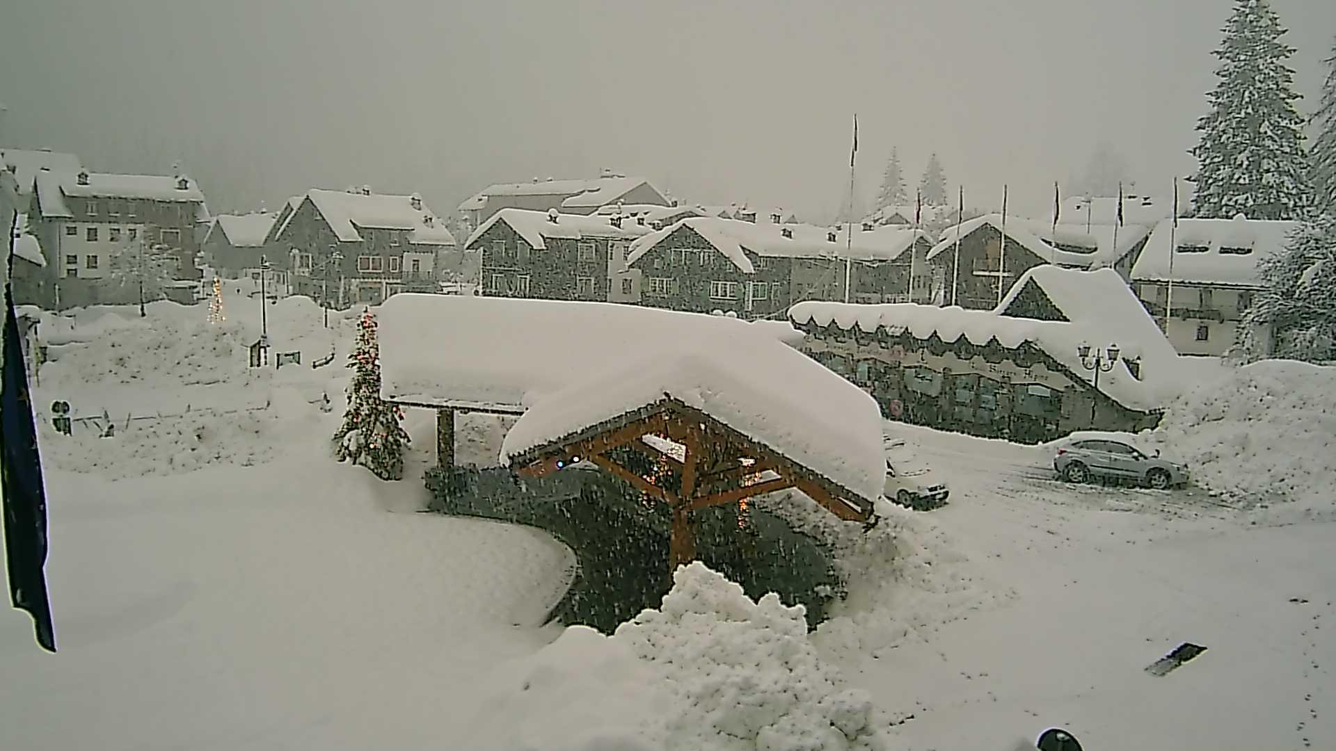 Fotografie grande nevicata sulle Alpi: 9 gennaio 2018