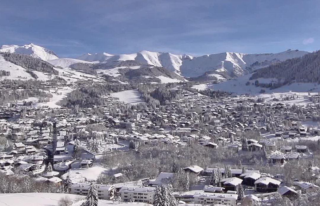 Megeve, veduta del villaggio invernale