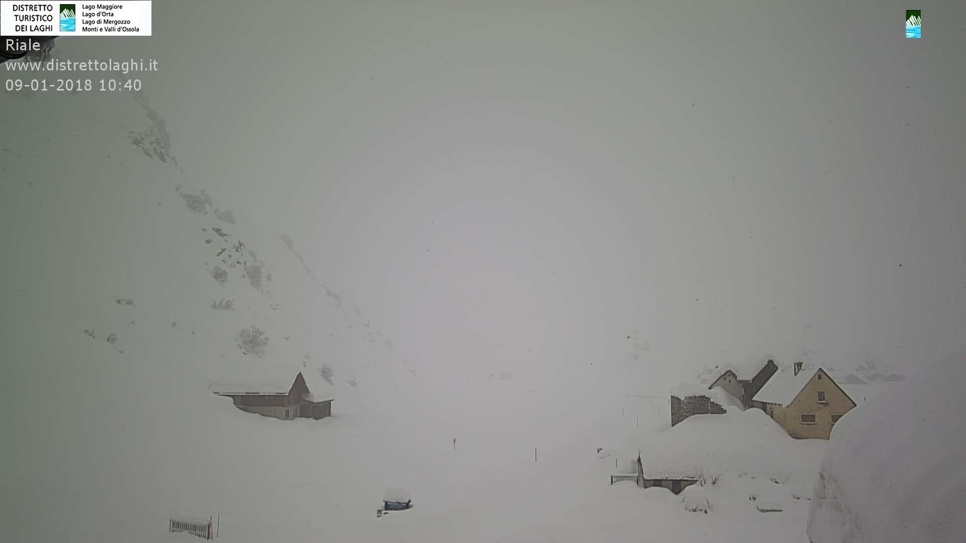 Grande nevicata sulle Alpi 9 gennaio 2018: Riale, Val Formazza (VB)