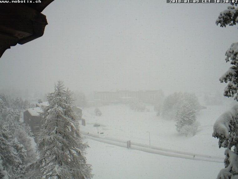 Fotografie Grande nevicata sulle Alpi 9 gennaio 2018, Sankt Moritz (SUI)