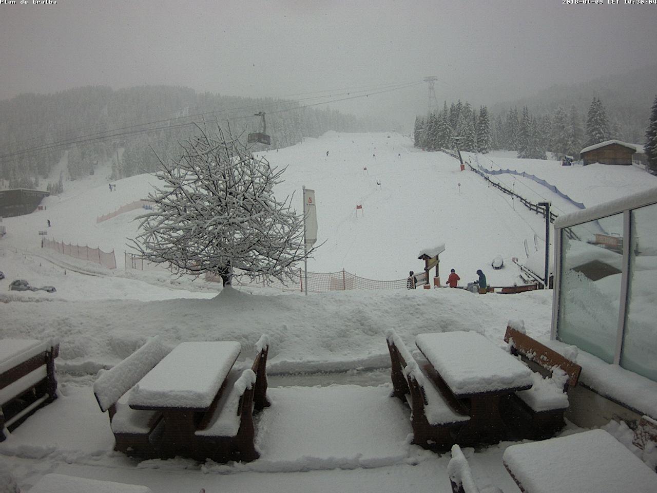 Grande nevicata sulle Alpi 9 gennaio 2018, Plan de Gralba, Val Gardena (BZ)