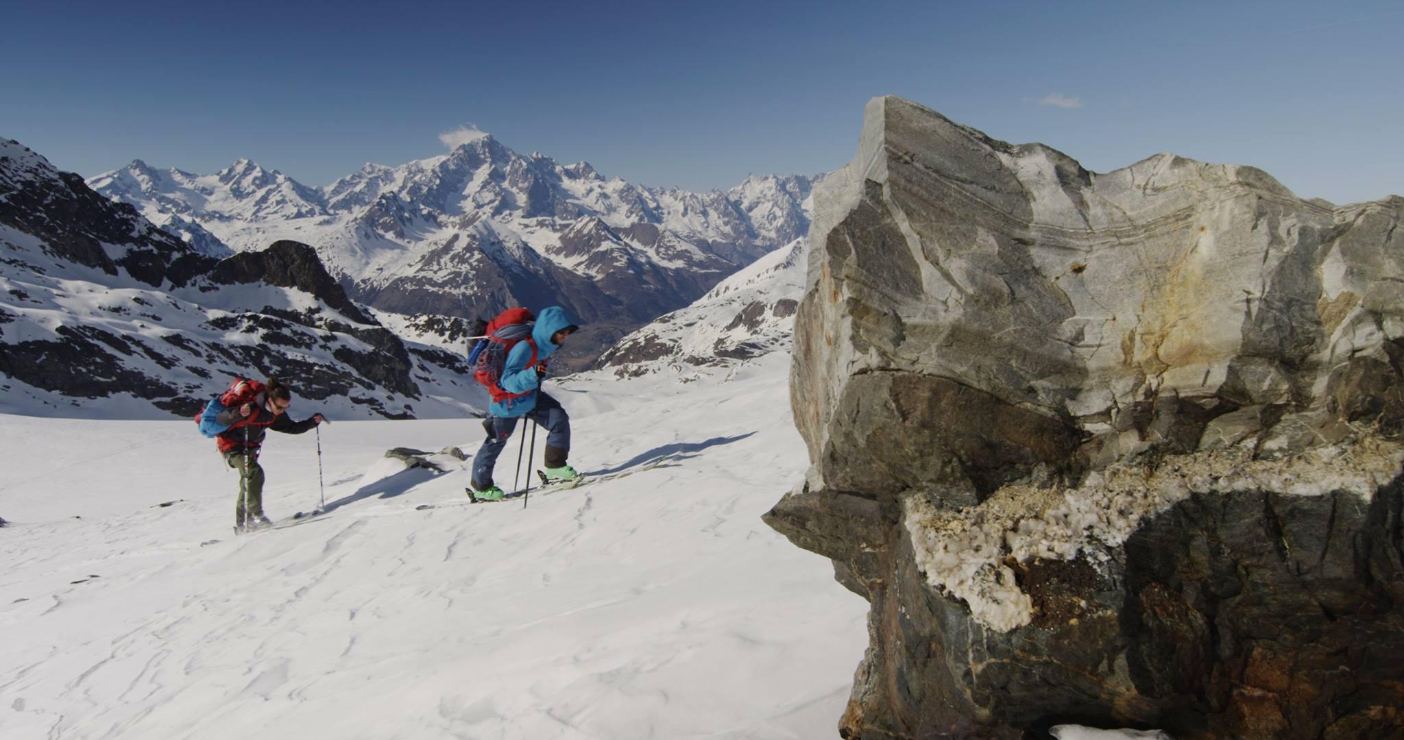 Film La promenade, Giro della Valle d'Aosta con gli sci