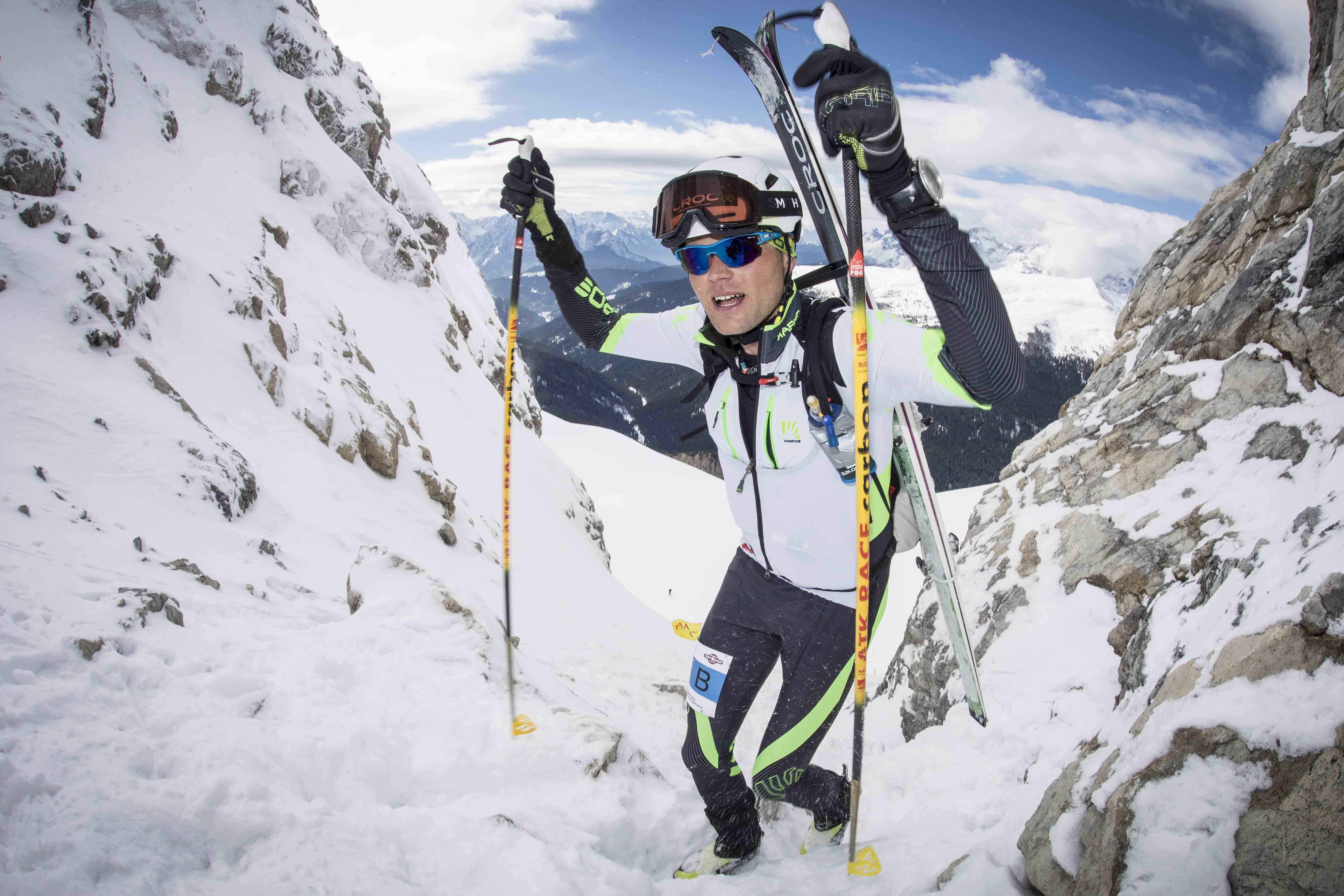 Fase di gara alla Pitturina Ski Race 2018