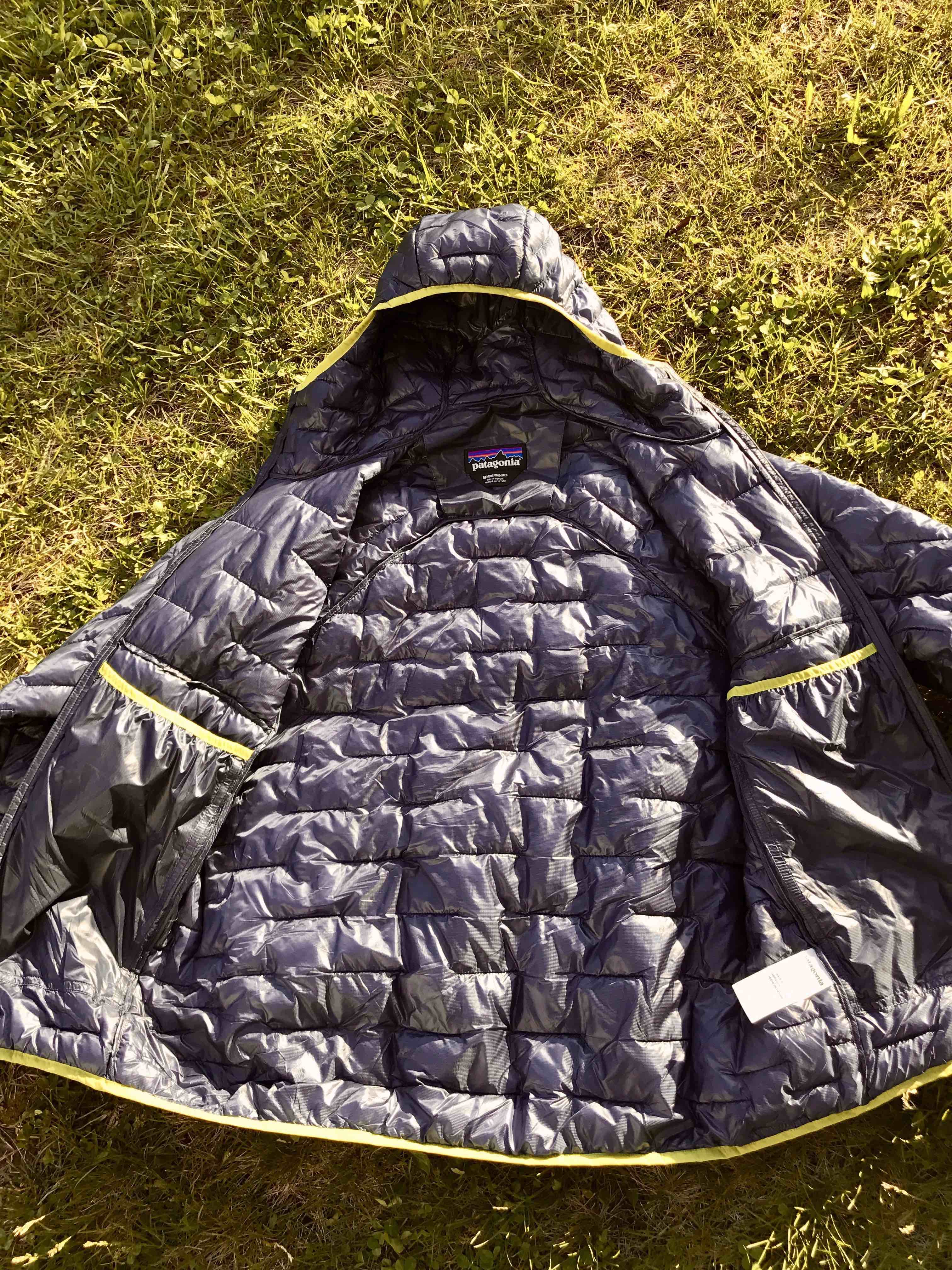 Patagonia Micro Puff: particolare delle ampie tasche interne