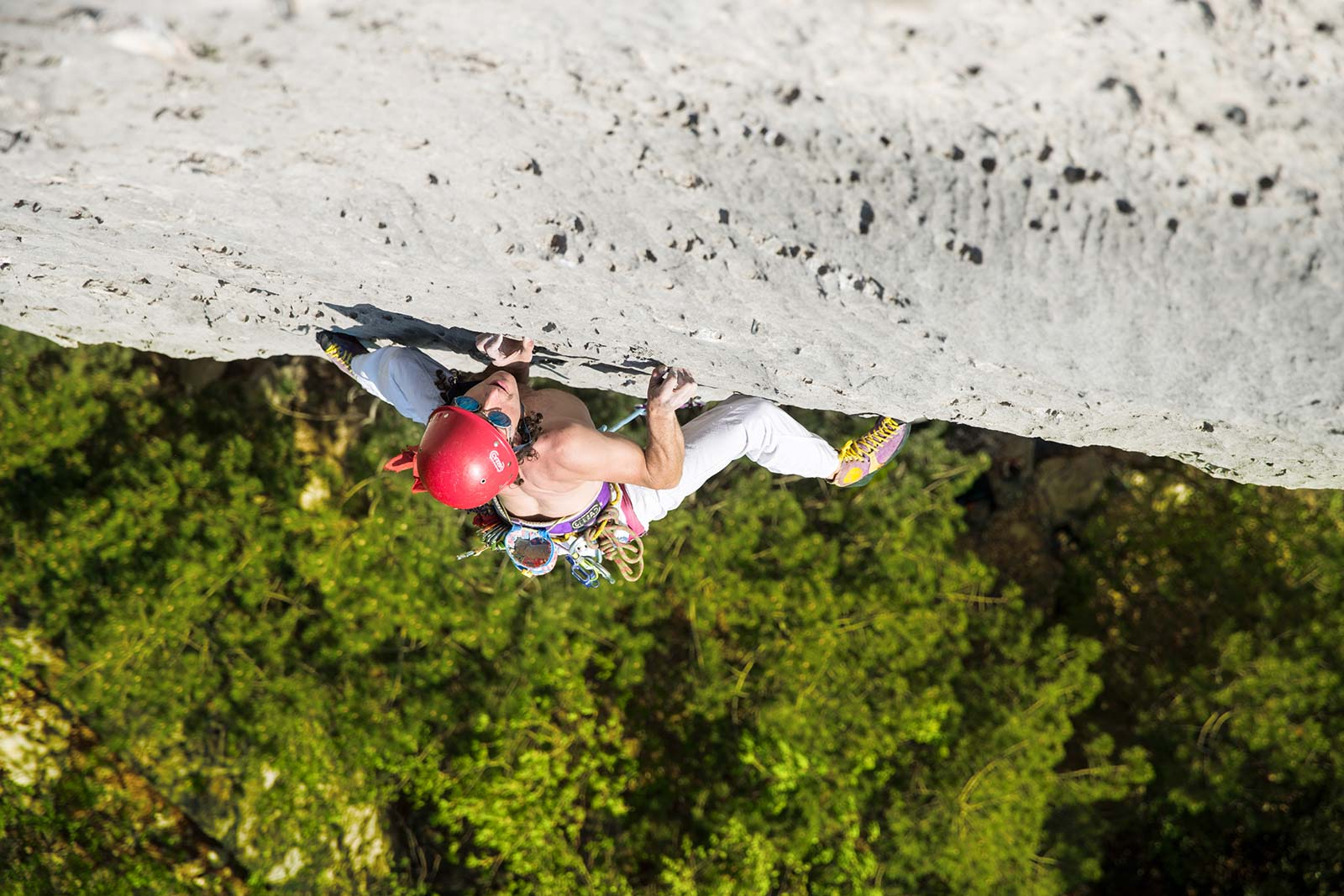 Matteo Mocellin, terzo classificar to all'Arco Rock Star 2018, contest fotografico di arrampicata sportiva