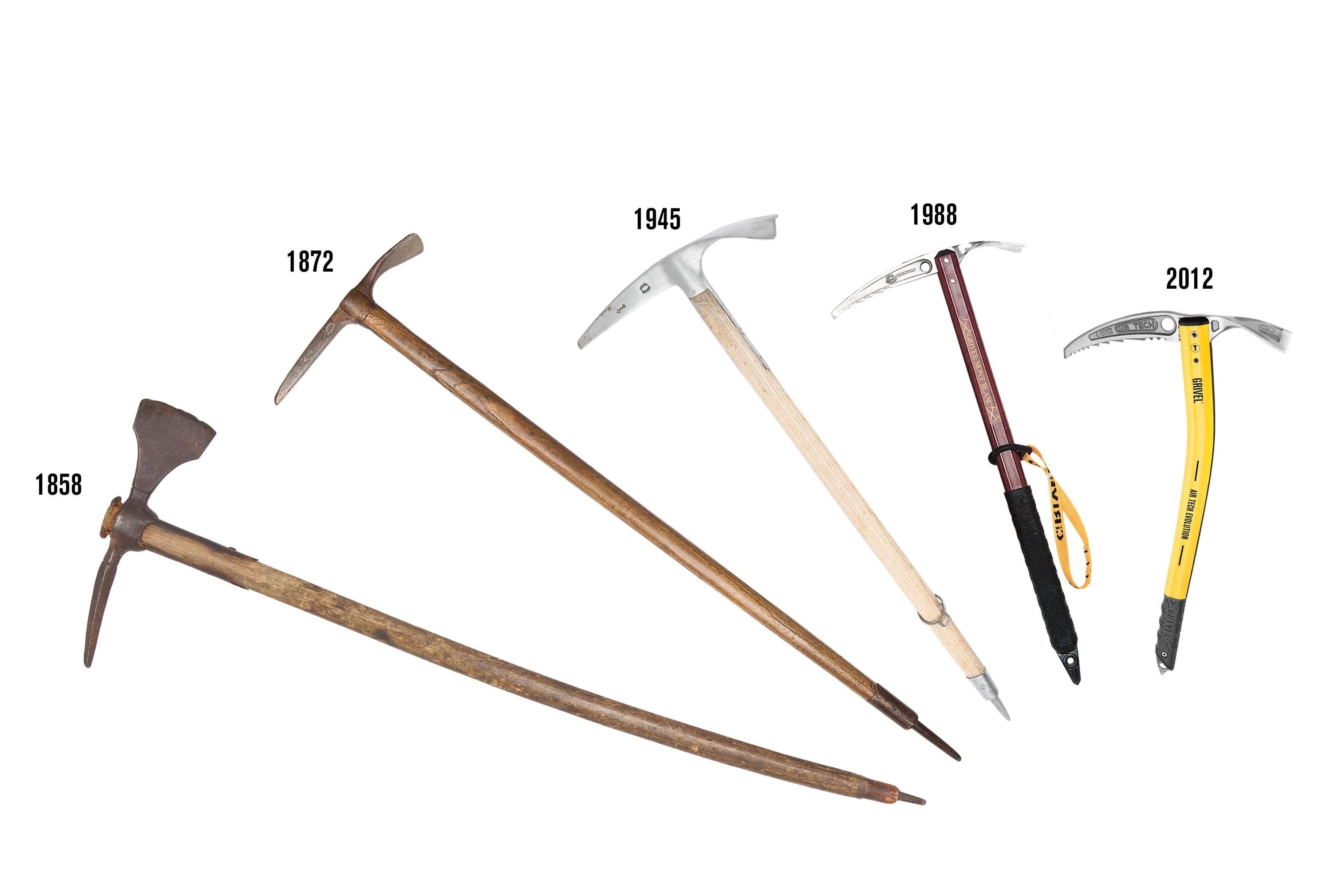 evoluzione delle piccozze Grivel