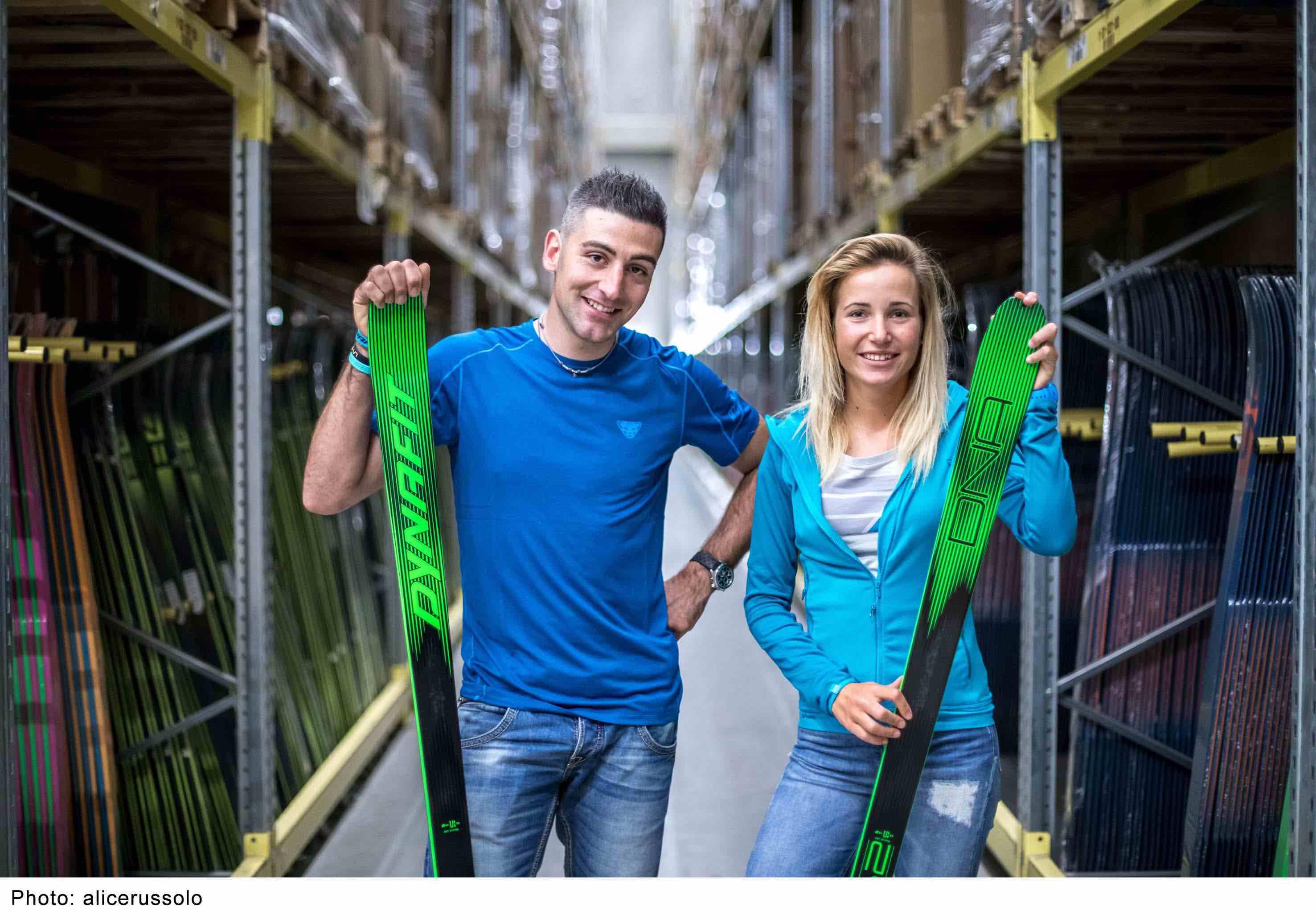 Damiano Lenzi e Alba De Silvestro, atleti del team Dynafit di scialpinismo