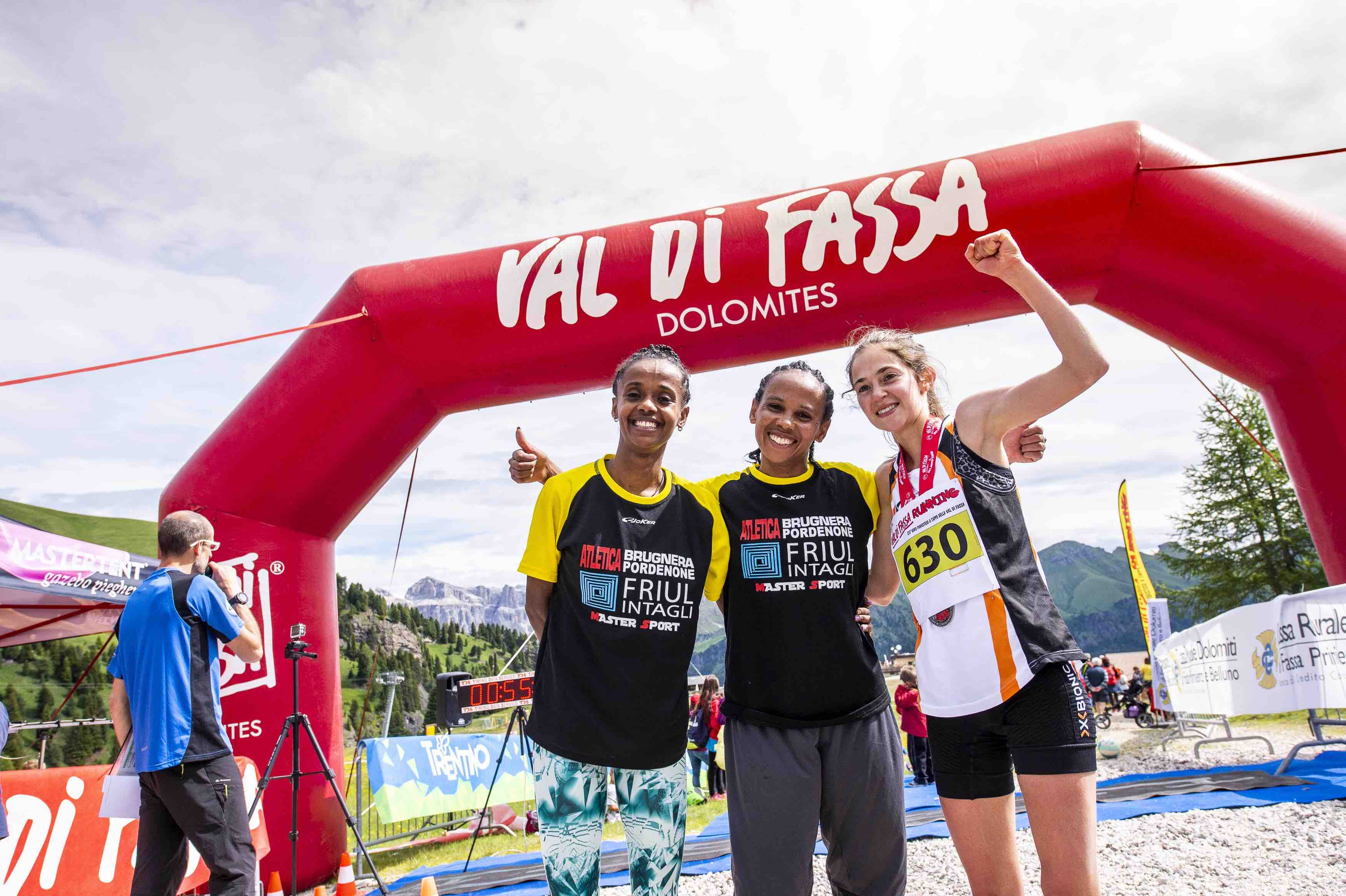 Day 6 - Podio femminile finale Val di Fassa Running 2018