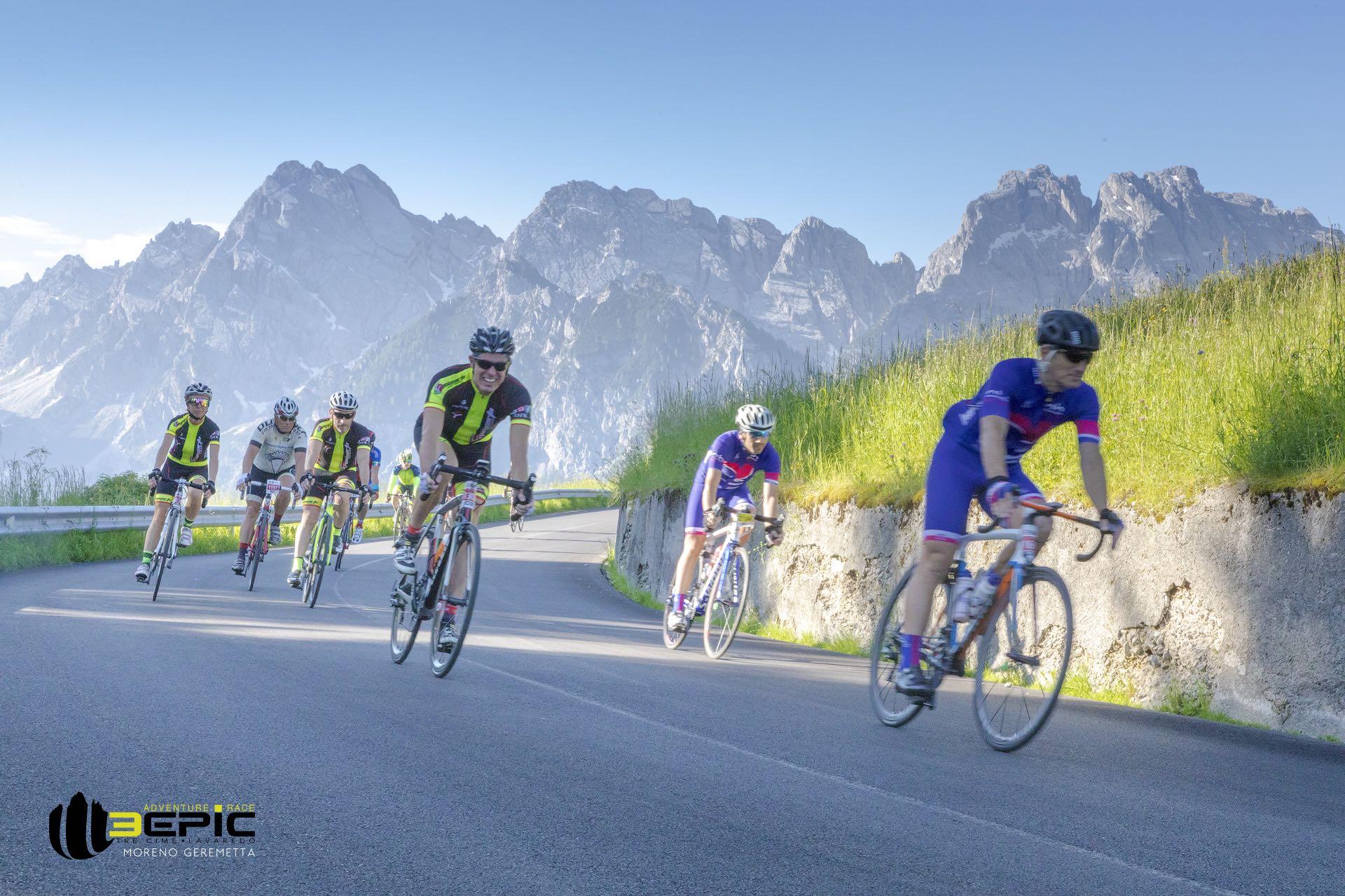 Gruppo in azione alla 3Epic Cycling Road 2018