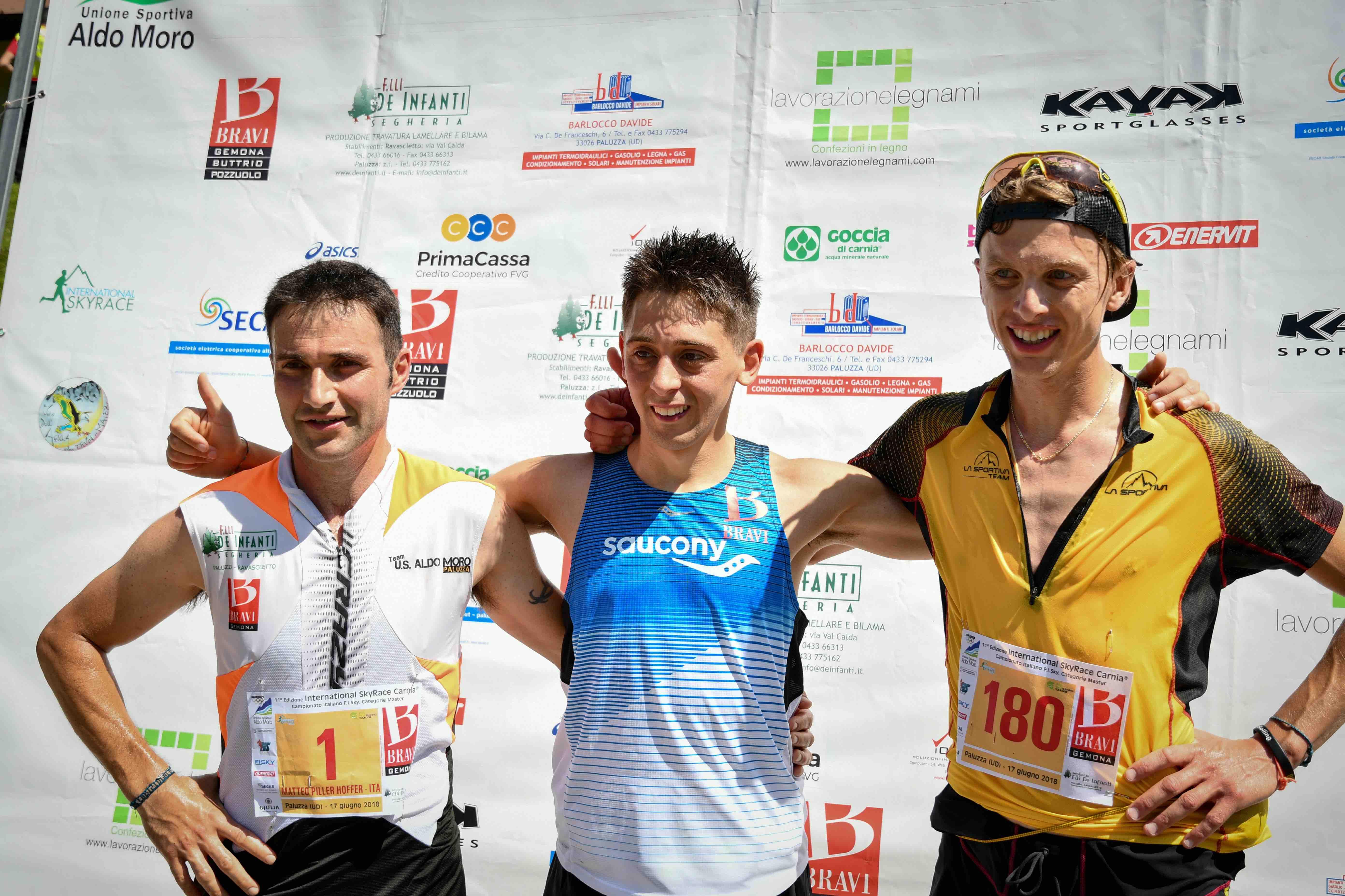 Sky Race Carnia - Il podio maschile 2018