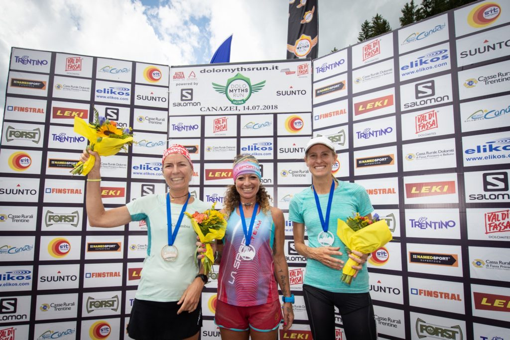 Podio femminile Dolomyths Run 2018