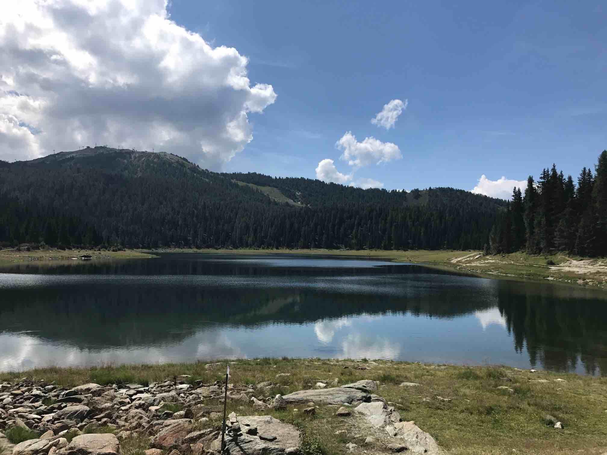Il lago Palù in Valmalenco