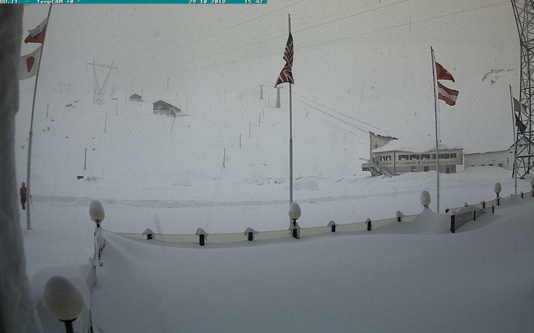 Neve in montagna: si va verso i 2 metri – Fotografie e webcam