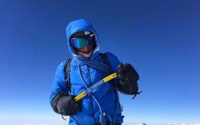 François Cazzanelli sulla vetta del Monte Vinson