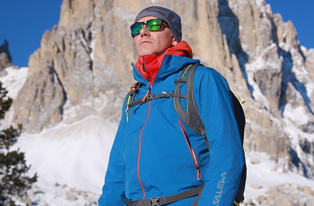 Giacca Salewa Sesvenna, l'ideale per lo scialpinismo