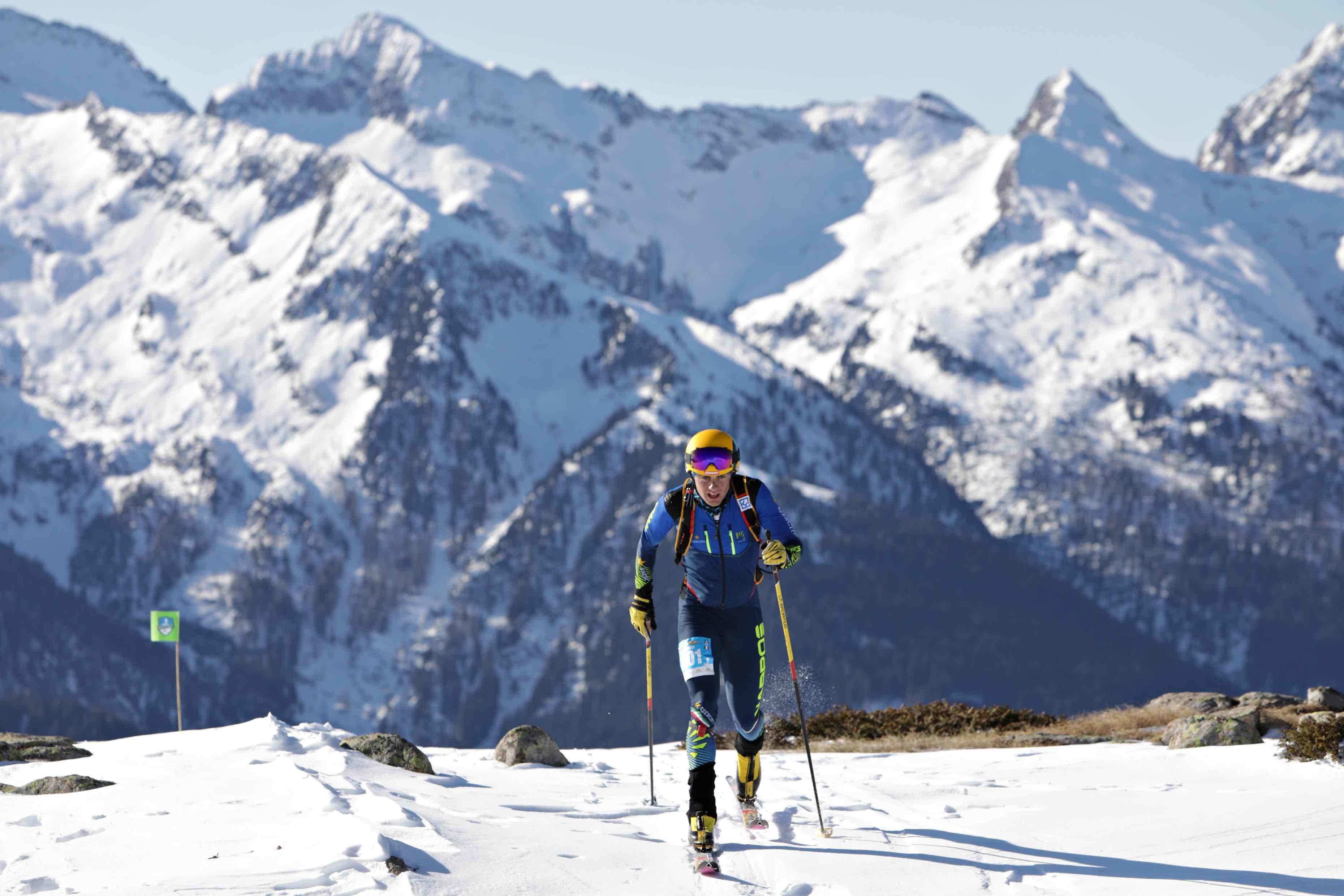 Michele Boscacci in azione al III Epic Ski Tour