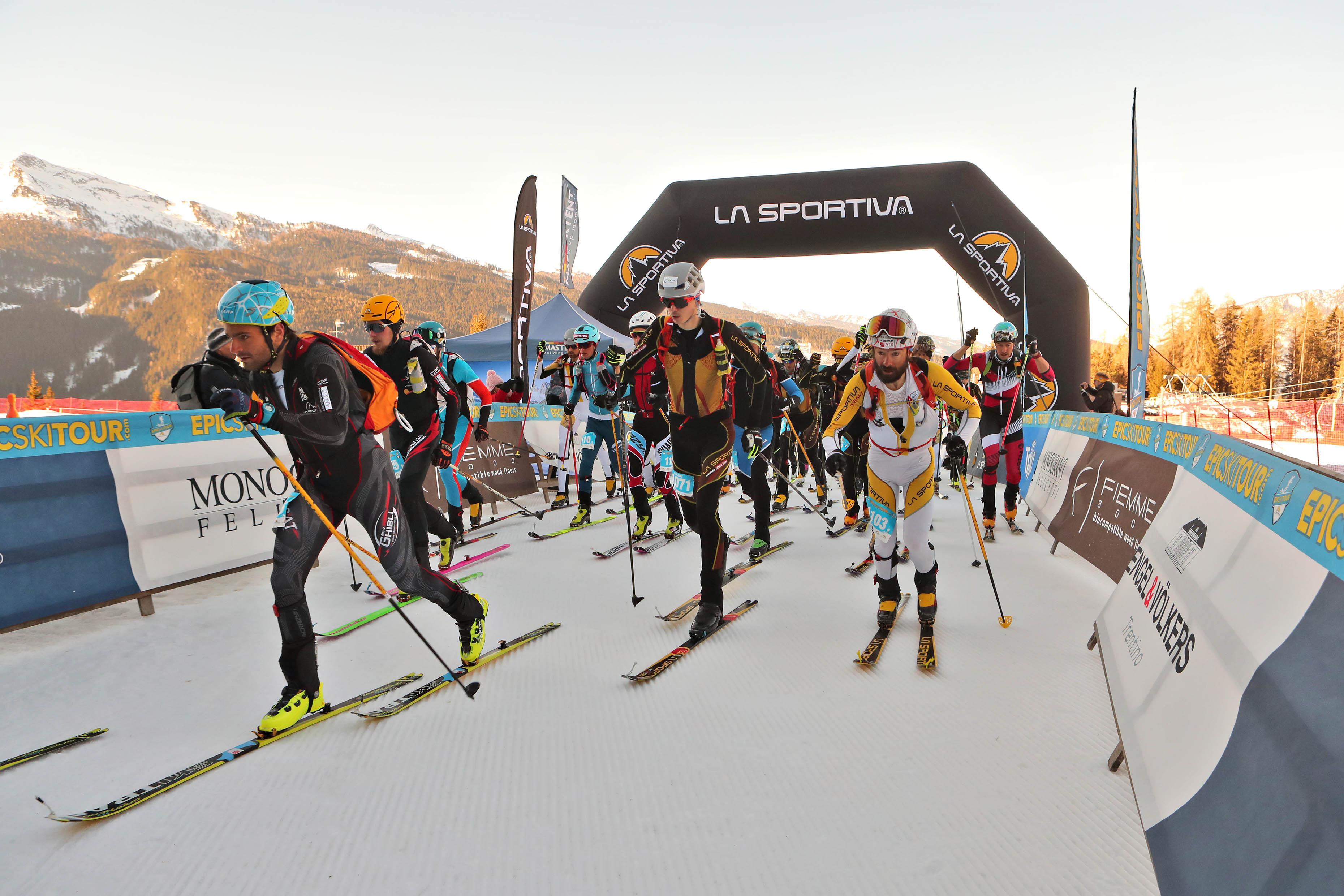 Partenza II tappa La Sportiva Epic Ski Tour 2019